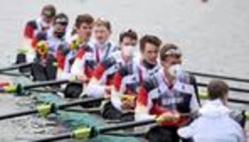 Ruderachter bei Olympia: Am Steg acht versteinerte Gesichter