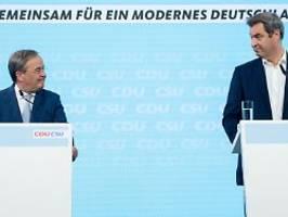 Droht plötzlich Opposition?: Söder: Union und Laschet müssen für Wahlsieg mehr tun