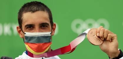 Hannes Aigner gewinnt im Einer-Kajak Bronze