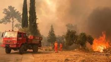 Brände in der Türkei und Italien, Hitze in Griechenland