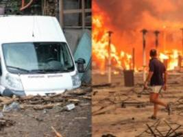 Italien: Unwetter im Norden, Brände im Süden