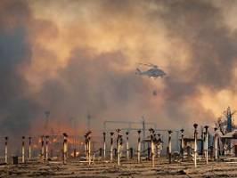 waldbrände auf sizilien: menschen am strand vor flammen gerettet