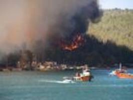 südliche urlaubsländer leiden unter gluthitze und waldbränden