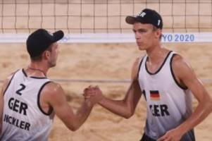 Olympia: Beachvolleyball-Duo Thole/Wickler im Achtelfinale