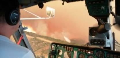 waldbrände in urlaubsregion antalya: aufnahmen der einsatzkräfte zeigen verwüstung