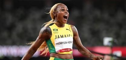 Olympia 2021: Elaine Thompson-Herah siegt in der Leichtathletik über 100 Meter