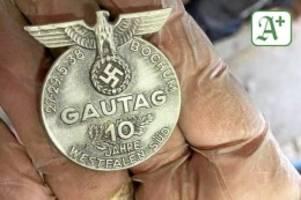 Überraschungsfund: historischer schatz: hochwasser spült nazi-versteck frei