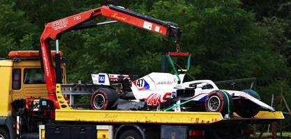 Schumacher verpasst nach heftigem Crash das Qualifying