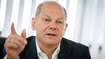 SPD-Kanzlerkandidat Scholz auf Wahlkampftour in MV