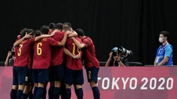 Sommerspiele in Tokio: Spaniens Fußballer erreichen Olympia-Halbfinale