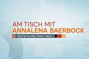 Am Tisch mit Annalena Baerbock: Fragen an die Kanzlerkandidatin