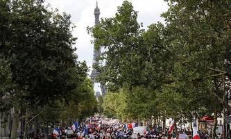 Wieder Großdemonstrationen gegen Corona-Regeln in Frankreich