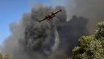 Hitzewelle: Heftige Waldbrände im Westen Griechenlands