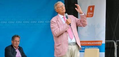 umstrittener wahlkampftermin: wolfgang bosbach und hans-georg maaßen in zella-mehlis