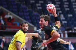 Olympia: Glanzloser Sieg gegen Brasilien: Handballer im Viertelfinale