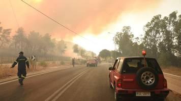 Extremwetter - Hitze und Brände in Griechenland: Mindestens 16 Verletzte
