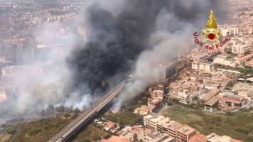 Wetter - Extremhitze in Südeuropa: Italien kämpft weiter gegen Brände
