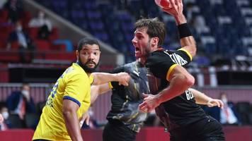 Olympia - Glanzloser Sieg gegen Brasilien: Handballer im Viertelfinale