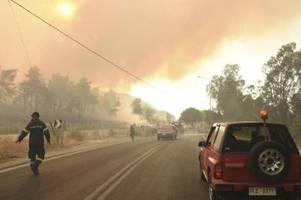 Hitze und Brände in Griechenland: Mindestens 16 Verletzte