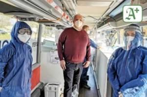 pandemie: corona-testbus ab morgen am zob in bergedorf