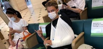 Dieser Deutsche will bei Olympia mit gebrochenem Arm starten