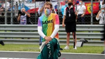 Formel 1 - Regenbogen-Shirt in Ungarn: Hamilton lobt Vettel