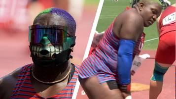 Raven Saunders: Mit diesen Szenen provoziert die schrillste Olympia-Athletin