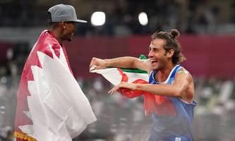 Habe Angst, zu schlafen: Erstmals teilen sich zwei Wettkämpfer Olympia-Gold