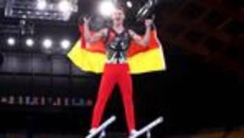 turnen bei olympia: lukas dauser gewinnt silber am barren