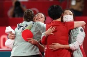 Olympia: Deutsche Tischtennis-Frauen spielen um Medaille