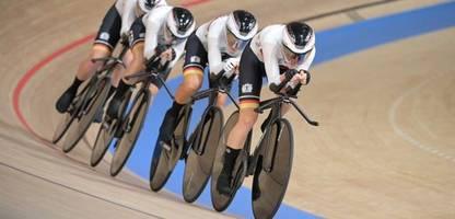 Olympia 2021: Bahnrad-Vierer der Frauen gewinnt Gold in Weltrekordzeit