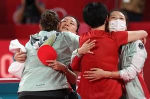 Deutsche Tischtennis-Frauen spielen um Medaille