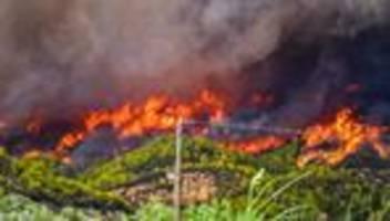 Hitzewelle in Griechenland: Neuer Waldbrand gefährdet antike Stätte Olympia