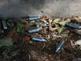 Partydroge Lachgas bereitet französischen Müllverbrennern Probleme