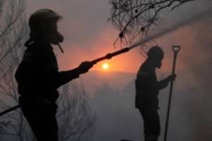 Griechenland: Brände bei Athen: Tausende vor Feuersturm geflüchtet