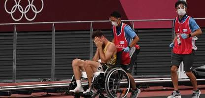 Niklas Kaul verletzt sich bei Olympia: Am Ende kam der Rollstuhl