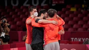 Olympia - Sind noch nicht fertig: Tischtennis-Männer spielen um Gold