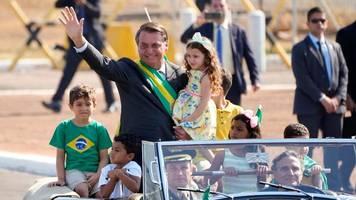 brasilien - demonstration am unabhängigkeitstag: bolsonaro mobilisiert
