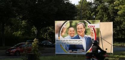 Armin Laschet auf CDU-Plakaten: »Im Müll landen sie nicht, wir hängen sie nur nicht auf«