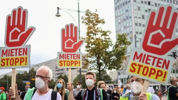Protest gegen hohe Mieten: Demonstrierende fordern bundesweiten Mietendeckel