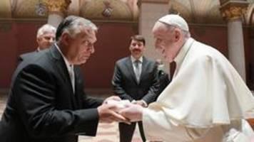 Papst Franziskus trifft Ungarns Regierungschef Orban