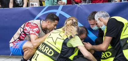 Cristiano Ronaldo schießt Ordner ab, trifft ins Tor und verliert in Bern