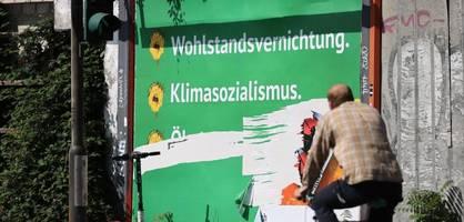 Bayerische Polizei nimmt Anti-Grünen-Plakate grundsätzlich ab