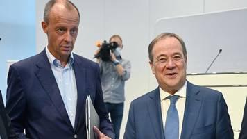 Bundestagswahl: Laschet und Merz gegen Steuererhöhungen - und gegen Scholz