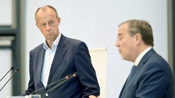 Laschet und Merz besuchen CDU-Fraktion