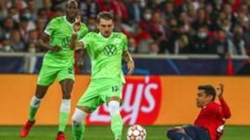 Champions League: Wolfsburg rettet in Unterzahl einen Punkt