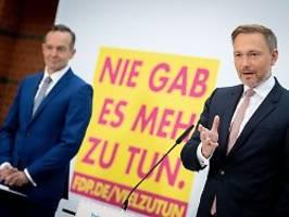 Nein zu Steuererhöhungen: Lindner schließt Linksruck mit der FDP aus
