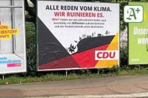 Bundestagswahl 2021: Extinction Rebellion: CDU erstattet Anzeige gegen Aktivisten