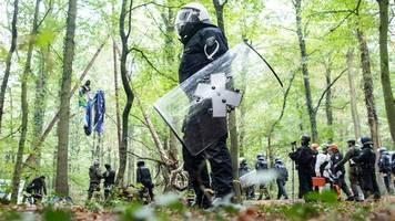 hambacher forst: landesregierung prüft vorgehen