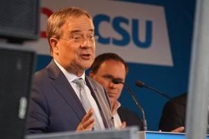 armin laschet warnt bei wahlkampfauftritt in augsburg vor links-koalition
